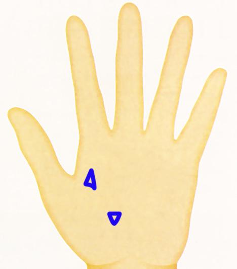 Kéz - haromszogek