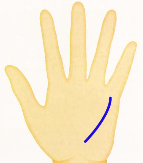 Kéz - merkurvonal